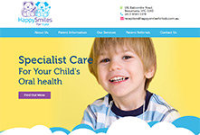 Drupal website: Happy Smiles for Kids #1