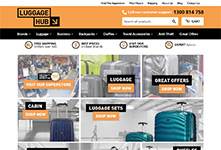 Luggagehub website: Shopify themeing, design and development #1
