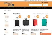Luggagehub website: Shopify themeing, design and development #2