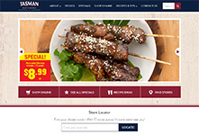 Retail chain website development: Tasman Meats #1