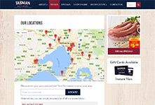 Retail chain website development: Tasman Meats Car Competition #2