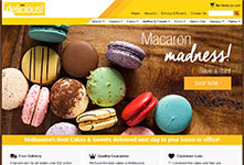 Online store website design: Alpen Delicious #1
