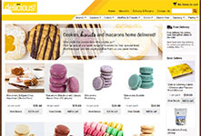 Online store website design: Alpen Delicious #2