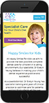 Drupal website: Happy Smiles for Kids responsive design