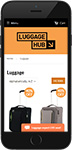 Luggagehub website: Shopify themeing, responsive mobile design and development
