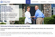 Responsive Website development: Senior League In Home Care #1