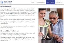 Responsive Website development: Senior League In Home Care #2